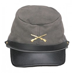 The Rebel Grey Suede Cap Made in the USA