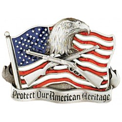 Belt Buckle Protect Our American Heritage
