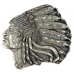 Boucle ceinture Indian Head , Diamond Cut