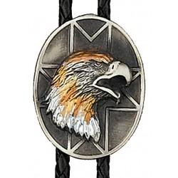 Tri-color Eagle Bolo Tie