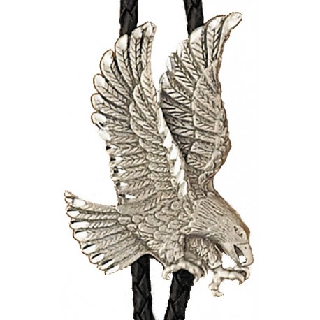 Pewter Eagle Bolo Tie