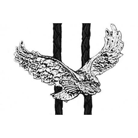 Corbata vaquera con águila plateada
