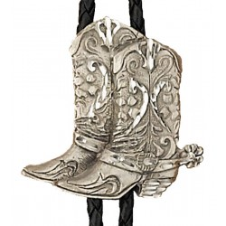 Pewter Boots Bolo Tie