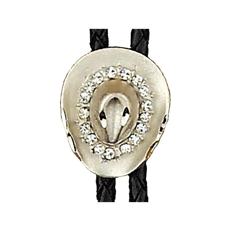 mejor lugar selección premium alta moda Corbata vaquera con sombrero plateado - Country Cowboy - Wester Supply