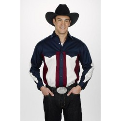 Chemise H. Western tricolore