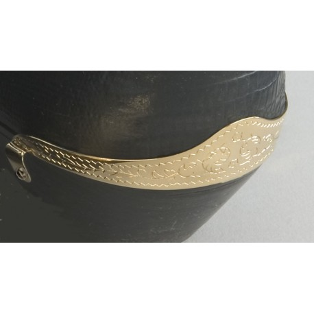 Engraved Brass Heel Guard