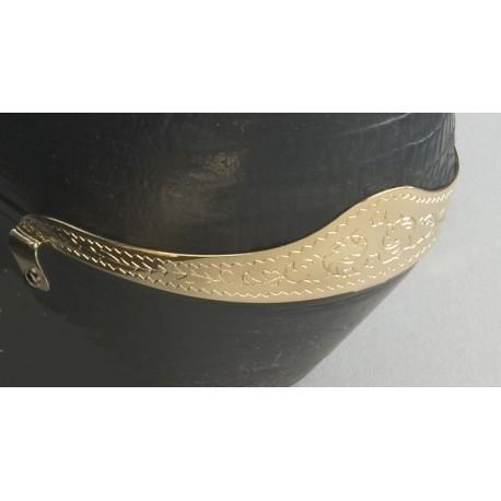 Engraved Brass Heel Guard