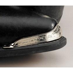 Punta pie para bota gravados en plata