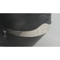 Protector del talón para bota grabado en plata