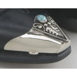 Punta pie para bota turquesa