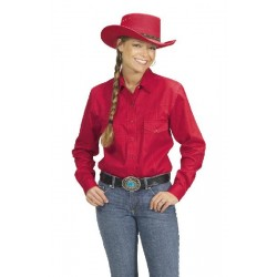 Women Country Western shirt Red