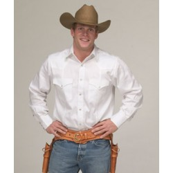 Men's Western Shirt White