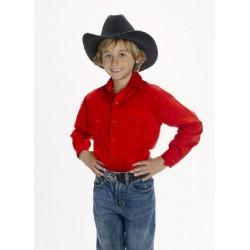 Camisa Vaquera para niño- color rojo