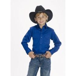 Camisa Vaquera para niño-color azul real