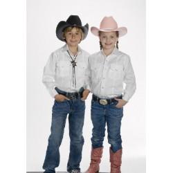 Camisa Vaquera para niño- color blanco