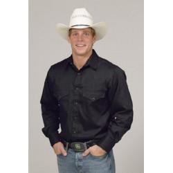 Camisa Vaquera para caballero- color negro solido