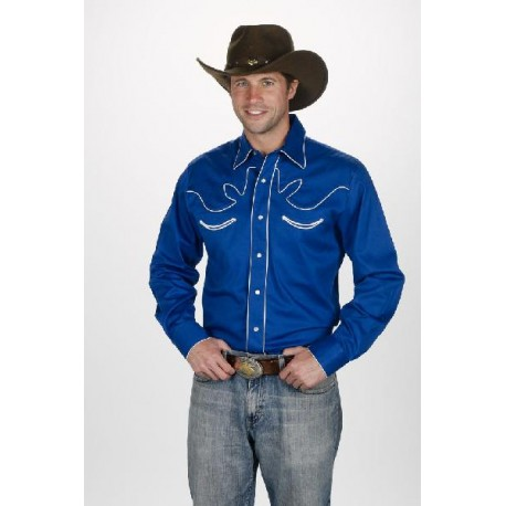Men's Retro Western Shirt ROYAL