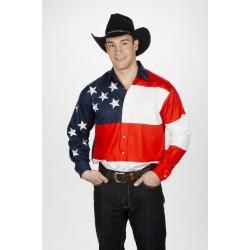 Camisa Vaquera para caballero con estrellas y rayas