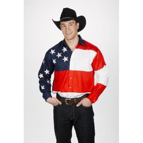 Men's Western Shirt Stars & Stripes