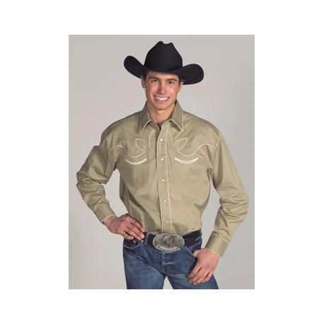 Men's Western Shirt Retro KHAKI