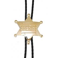 Silver Sheriff Badge Bolo Tie
