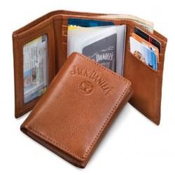 Trifold Porte monnaie Jack Daniels marron