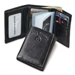 Trifold Porte monnaie Jack Daniels noir