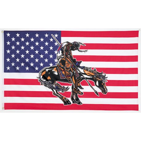 USA End Of Trail Flag 3' x 5'