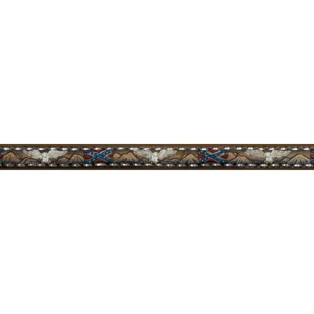 Leather Belt - Eagles & Rebel Flags