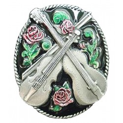 Country Music & Rose Bolo Tie