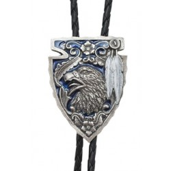Eagle & Arrowhead Bolo Tie, Blue Enamel