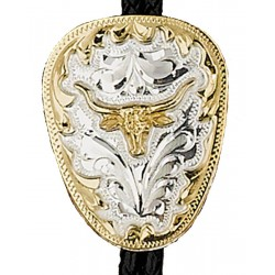 German Silver Longhorn Bolo Tie