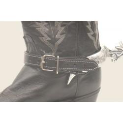 Leather Straps for Spurs black