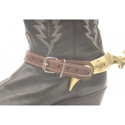 Leather Straps for Spurs Brown