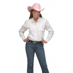 Chemise F. Country Western Blanche