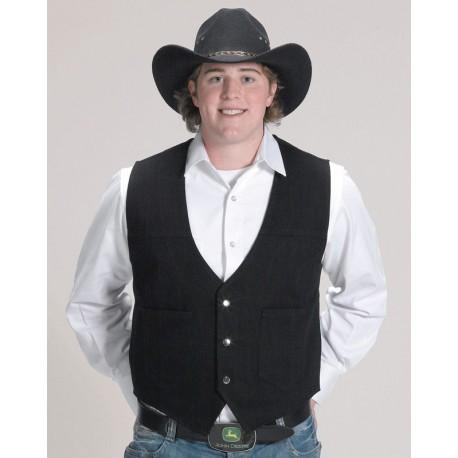 Trucker Vest/Black Denim