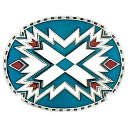 Southwestern Oval Belt Buckle