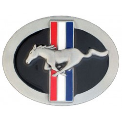 Ford Mustang Belt Buckle, Enameled