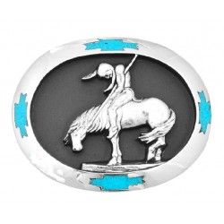 Running Horses Belt Buckle