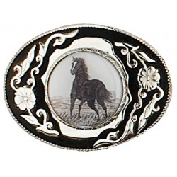 Boucle ceinture Country Western Cheval