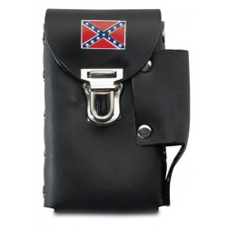Leather Cigarette Case - REBEL FLAG