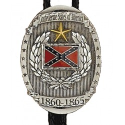 Pewter Confederate States Bolo Tie