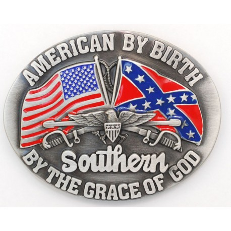 American By Birth/Southern by the Grace of God Buckle