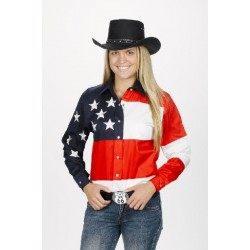 WOMEN'S Stars & Stripes Western Shirt