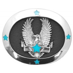 Eagle with Star & Banner Belt Buckle