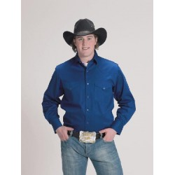 Men's Solid Color Western Shirt ROYAL