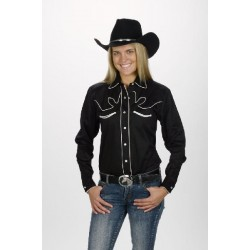 Chemise F. Country Western Noire